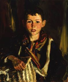 """""""The Fish Basket"""" by Robert Henri. 1926 oil on canvas. In the collection of The Columbus (OH) Museum of Art."""
