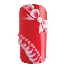Tutorial for 3-D acrylic bow nails
