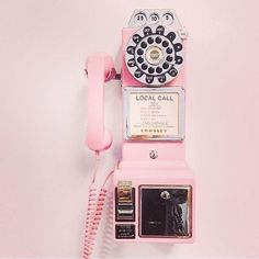 Crosley Retro Payphone -Comes in Black, Pink, Red and Brushed chrome : A Unique Gifts Website 1950s Aesthetic, Diner Aesthetic, Peach Aesthetic, Aesthetic Vintage, Nature Aesthetic, Aesthetic Beauty, Pastel Girls Room, Pink Photo, Photo Wall Collage