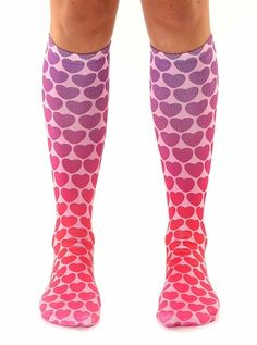21ffc3837fb02 Living Royal Hearts Print Girls Graphic Knee High Socks from Living Royal -  USA at Pumpkinheads