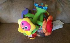Lamaze Soft Chime Garden Bright Colors Crinkly Leaves Classical Music Soft Plush #Lamaze