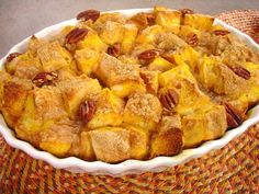 Pumpkin French Toast Bake #recipe from WLUK FOX 11 Living with Amy Hanten. #recipes #video