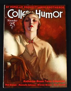 NOVEMBER 1932 COLLEGE HUMOR MAGAZINE ROLF ARMSTRONG FLAPPER COVER JAZZ AGE DECO