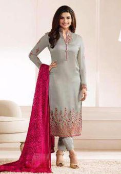 Vinay #Kaseesh Prachi Jannat Indian Georgette Salwar Kameez Suit 5555 #Grey