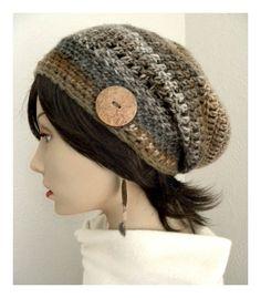 I absolutely love this! Boho Chic, Bohemian Chic Fashion, Tweed, Hand Crochet, Crochet Hats, Slouchy Beanie Hats, Crochet Fashion, Wool Blend, Fashion Accessories