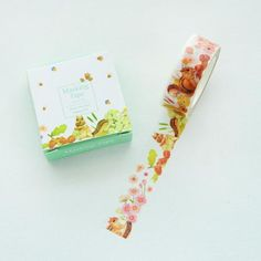 1.5CM Wide Cute Eating Squirrel Washi Tape DIY Scrapbooking Sticker Label Masking Tape School Office Supply 563