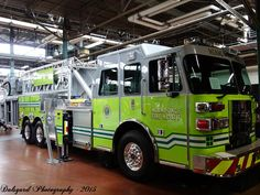 Miami Dade truck, Brand new Sutphen SPH 100' Tower Ladder.