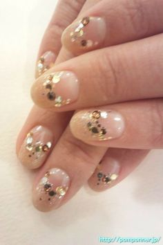 Reverse French manicure beige