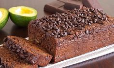 Avocado Chocolate Bread Recipe (Paleo, Gluten and Grain Free, Dairy Free) by LivingHealthyWithChocolate paleo dessert avocado Paleo Dessert, Healthy Desserts, Delicious Desserts, Dessert Recipes, Yummy Food, Healthy Fats, Dessert Bread, Avocado Dessert, Low Carb Desserts
