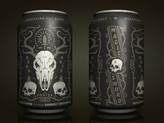 Dark Arts designed by Half & Half. Connect with them on Dribbble; the global community for designers and creative professionals. Beer Packaging, Food Packaging Design, Branding Design, Label Design, Graphic Design, Package Design, Design Design, Brewery Design, Beer Art