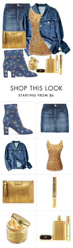 """""""Goldy Glow💛"""" by aridhina ❤ liked on Polyvore featuring Valentino, Frame, L'Oréal Paris, Peter Thomas Roth and Tom Ford"""