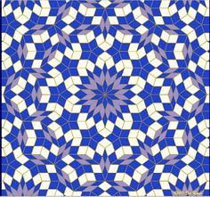 Penrose Tile pattern from the fractal page of Jos Leys