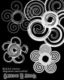 [포토샵 자료/브러쉬] 기하학 브러쉬/ 무늬 브러쉬/ 예쁜브러쉬/ 동심원 브러쉬/ 동그라미 꽃 브러쉬/ 신기한 브러쉬 다운 : 네이버 블로그
