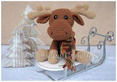 Marty the Moose - free crochet pattern
