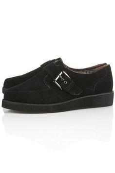 MONO Black Suede Monk Shoes