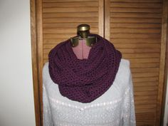 Grape Jam purple infinity, cowl warm winter scarf, crochet scarf on Etsy, $25.00