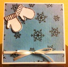 Christmas Card - Blue and white