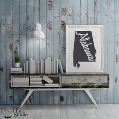 Spice up your walls with our premium vinyl decal wall art. 😍 The look of freshly painted words without the mess, time⌚or effort of painting. 🎨 We have a wide variety of colors to choose from. Decal Life Studio 🌟 State of Alabama Wall Decal