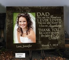 Cute gift for Dad!  https://www.etsy.com/listing/188403324/sidedad-father-of-the-bride-gift