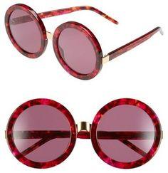 34f7a804fb Wildfox  Malibu  56mm Round Sunglasses  sunglasses  womens  summer Round  Lens Sunglasses