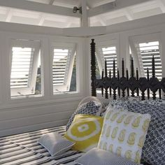 Caribbean beach house - love the shutters
