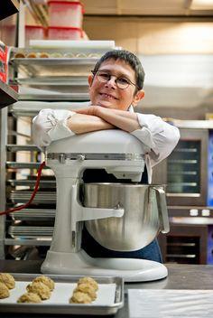 Dorie Greenspan in the kitchen.