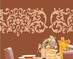 """Wandschablonen - Wandschablone - Bordüre """"Baroque"""" - ein Designerstück von PreciousWalls bei DaWanda"""