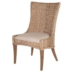 Create a casual, welcoming environment in your dining space with this Orient Express Furniture New Wicker Greco Dining Chair - Set of 2 . This set. Wicker Dining Chairs, Solid Wood Dining Chairs, Upholstered Dining Chairs, Dining Chair Set, Dining Room Furniture, Furniture Sets, Dining Table, Kitchen Tables, Round Dining