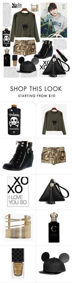 """rocker chic"" by ztugceuslu ❤ liked on Polyvore featuring Anja, Top Moda, BCBGMAXAZRIA, xO Design, Boohoo, Clive Christian, Gucci and Smashbox"