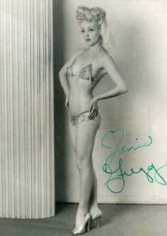 1940's Burlesque Showgirl from San Diego - Jane Gregg