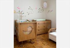 quarto de bebê pássaros