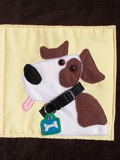 I love doggies! This would be cute to do on a purse or bag.
