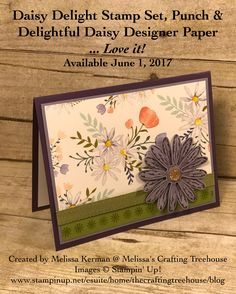 2017-2018 Stampin' Up! Catalog Sneak Peek made with the Delightful Daisy Suite.