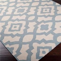 Bohemian Market Dhurrie Rug, Sky Blue - mediterranean - rugs - by Shades of Light
