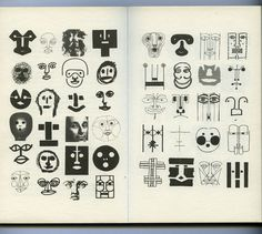 Bruno Munari, variations on the theme of the human face. Design as Art