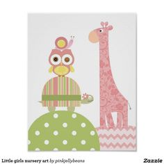 Little girls nursery art poster