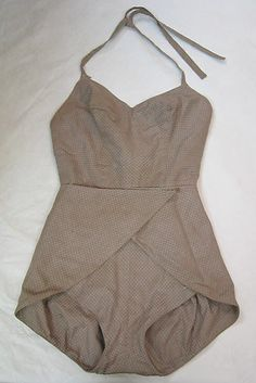 Beachwear (Bathing Suit), by Claire McCardell, Manufacturer: Townley Frocks, c. 1951. Metropolitan Museum of Art, 2004.331