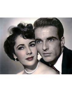 """Elizabeth Taylor & Montgomery Clift from """"A Place In The Sun"""""""