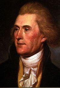 Thomas Jefferson, terzo presidente degli Stati Uniti, dal 1801 al 1809