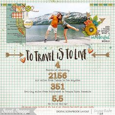 Image result for vacation by the numbers scrapbooking