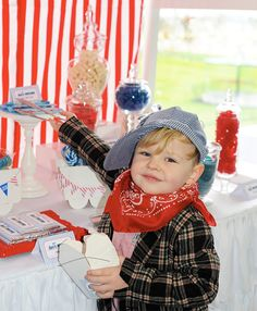 All Aboard! There's A Train Party Full Steam Ahead - We love this little ones outfit for the big day!