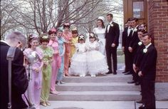1969 Rainbow bridesmaids dresses have always annoyed me.