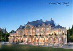 "Village Type-1 (Baroque Style), ""DAEMYUNG LUCEEN RESORT : Culture Theme Resort CG Perspective View / ""대명 루첸 리조트"" 빌리지 타입1. 투시도"