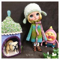 #knit#kniting #crochet #blythe#customblythe#blythedoll#blytheoutfit #dolloutfit #kobito#kakuremomojiri #dog ##ブライス#カスタムブライス#ブライスアウトフィット#ドールアウトフィット#あにまるヘルメット#あにまる帽子  #わんきゃっぷ#こびとづかん#カクレモモジリ#お大福ちゃん#ももぞう