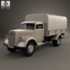 Opel Blitz Flatbed Truck 1940 3d model from humster3d.com
