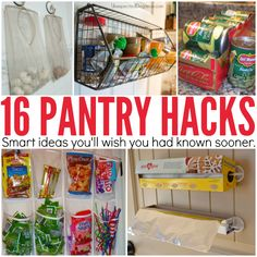 Use over the door racks and shoe organizers in your pantry to maximize small spaces. Pantry organization hacks that will change your life!