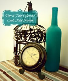 DIY  Crafts: How to Paint Glass with Chalk Paint! Works so much better than acrylic! {See side by side comparison}