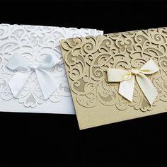 2015 ouro preto rendas arco de cartões de convite de casamento com Envelope e 50 peças em Decoração de festa de Casa & jardim no AliExpress.com | Alibaba Group