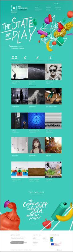Unique Web Design, Kikk Festival 2014 #WebDesign #Design (http://www.pinterest.com/aldenchong/)