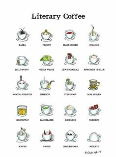 Coffee Wallpaper, Coffee Chart, Anchor Books, Drink Recipe Book, Bram Stoker, Coffee Pictures, Book Memes, Lewis Carroll, Oscar Wilde